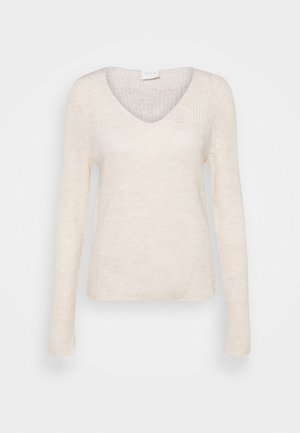 VIOKTAVI V NECK - Jumper - super light natural