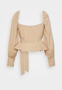 Nly by Nelly - WRAPPED AROUND LOVE BLOUSE - Bluser - beige - 1