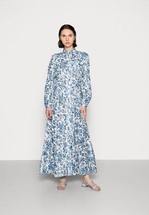 SCALLOP MAXI DRESS - Długa sukienka - dark white/sky blue