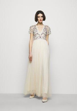 PRAIRIE FLORA BODICE DRESS - Společenské šaty - champage