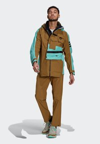 adidas Performance - XPLORIC RAIN JACKET - Hardshell jacket - wild moss/acid mint - 1