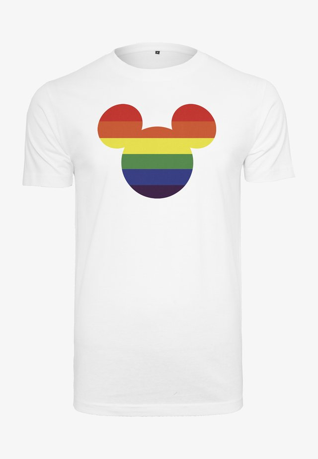 MICKEY MOUSE RAINBOW PRIDE - T-shirt imprimé - white
