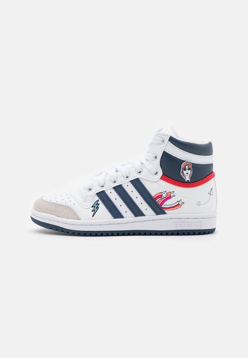 adidas Originals - TOP TEN UNISEX - Sneakers high - footwear white/crew blue/bright blue