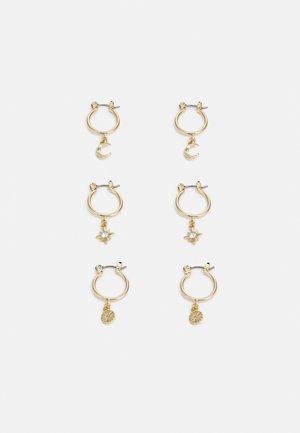 CHUNKY HUGGIE HOOP 3 PACK - Earrings - gold-coloured
