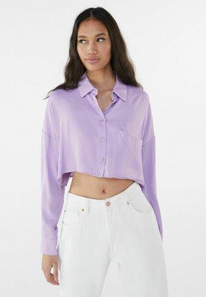 MIT TASCHE - Button-down blouse - mauve
