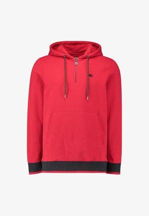Hoodie - haute red