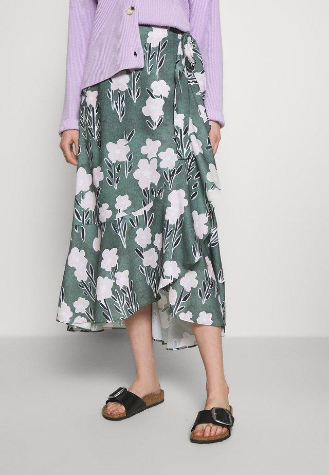 SKIRT URSA - Áčková sukně - khaki