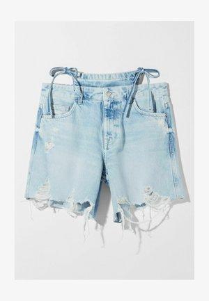 MIT BIKINIDETAIL  - Denim shorts - blue denim