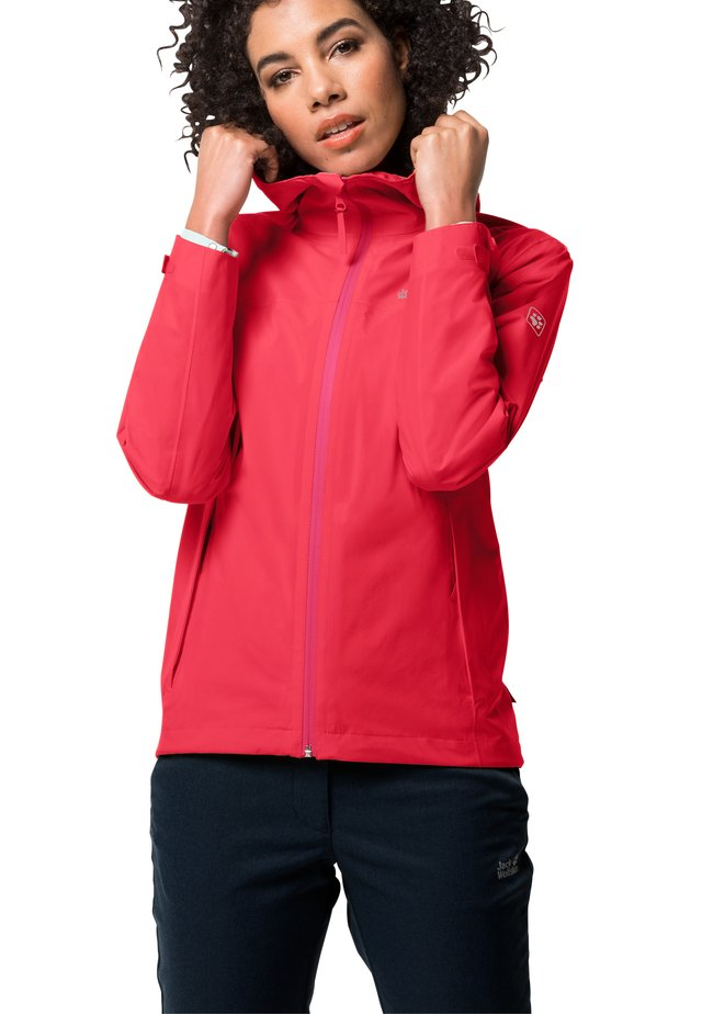 JWP SHELL - Waterproof jacket - tulip red