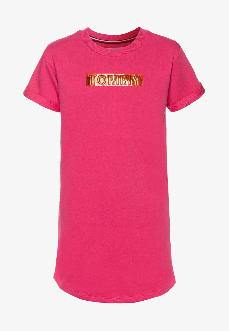 Tommy Hilfiger - LABEL DRESS - Denní šaty - pink