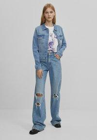 Bershka - Veste en jean - blue denim - 1