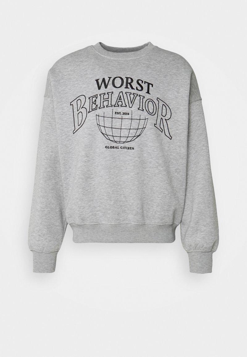 WRSTBHVR - SWEATER CITIZEN UNISEX - Sweater - grey melange