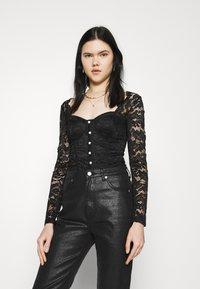 New Look - CARLEY DIAMANTE DETAIL - Blouse - black - 0