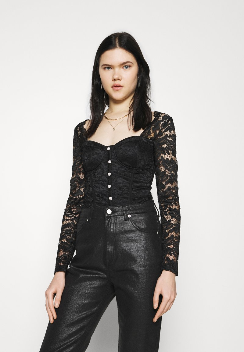 New Look - CARLEY DIAMANTE DETAIL - Blouse - black
