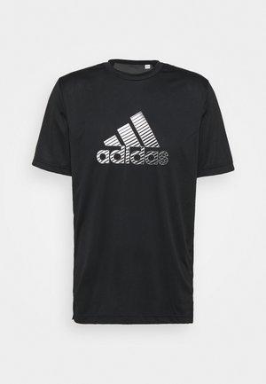 Camiseta estampada - black/gresix