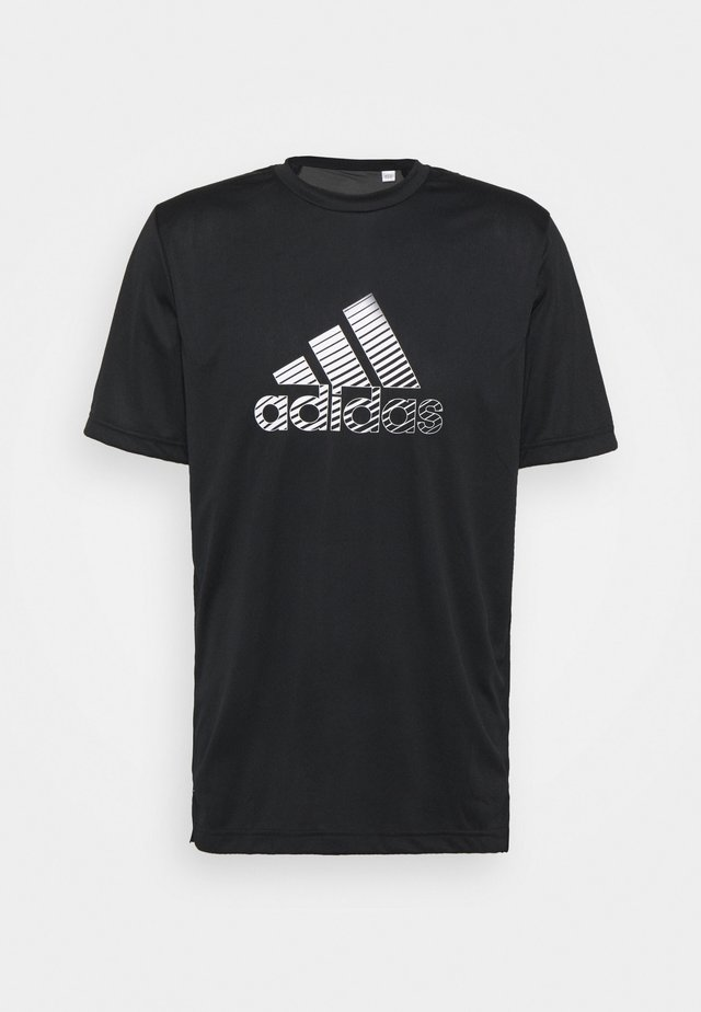 T-shirt con stampa - black/gresix