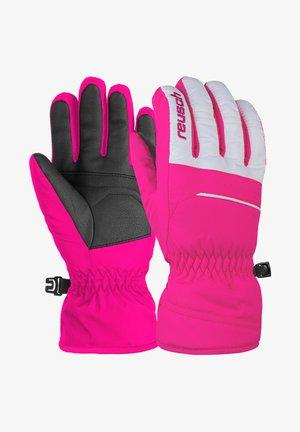 ALAN JUNIOR - Gloves - pink glo white