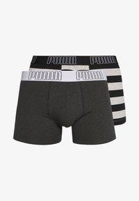 Puma - BOLD STRIPE BOXER 2 PACK - Panties - black - 3