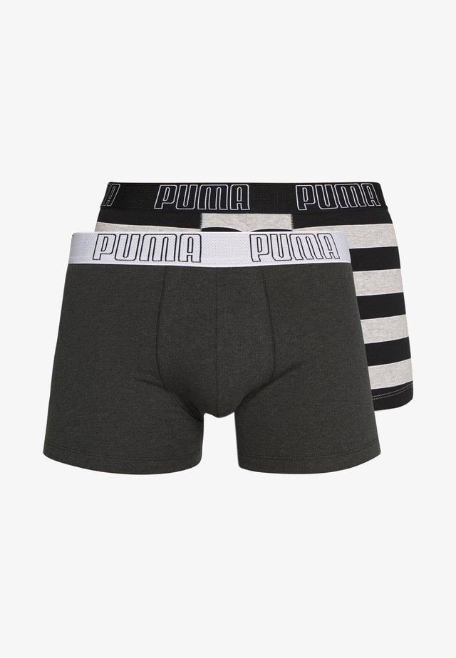 BOLD STRIPE BOXER 2 PACK - Pants - black