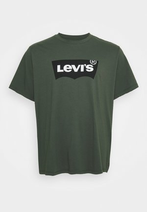 BIG GRAPHIC TEE - Print T-shirt - thyme
