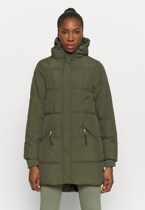 THE MOTHER MID LENGTH PUFFER - Winter coat - khaki