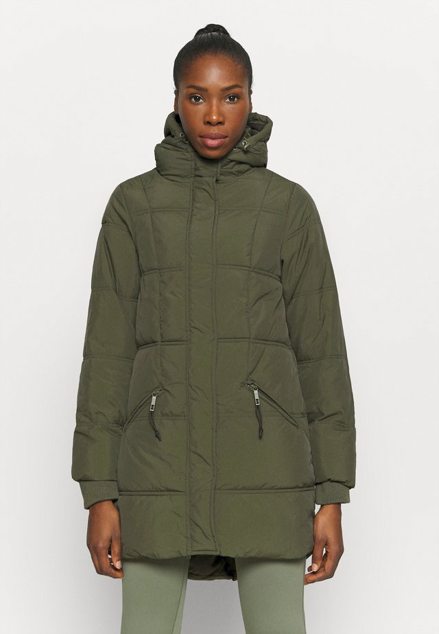THE MOTHER MID LENGTH PUFFER - Talvitakki - khaki