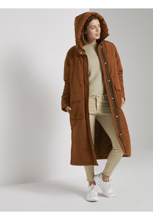 PADDED LONG COAT - Winter coat - burnt hazelnut brown