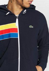 Lacoste Sport - RAINBOW JACKET - Zip-up hoodie - navy blue/wasp/gladiolus/utramarine/white - 4