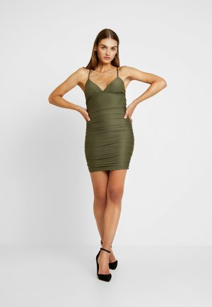 AMBER DRESS - Vestido de tubo - khaki