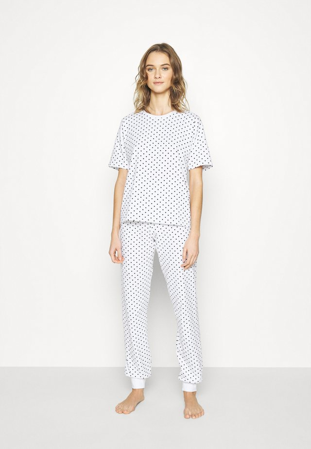 ONLASTA NIGHTWEAR SET - Pyjama - white/black