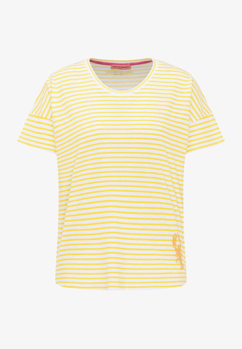 Frieda & Freddies - Print T-shirt - light yellow