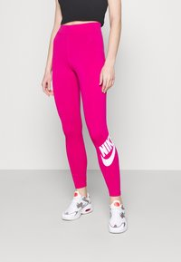 Nike Sportswear - FUTURA - Leggings - Trousers - fireberry/white - 0