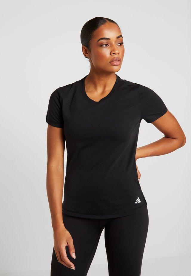 PRIME TEE - Sportshirt - black