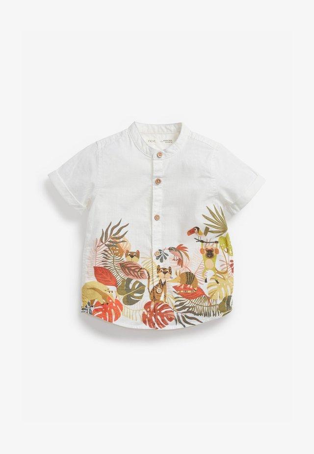 BORDER PRINT - Camicia - white