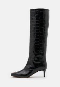 L'Autre Chose - BOOT NON ZIP - Stivali alti - black - 1