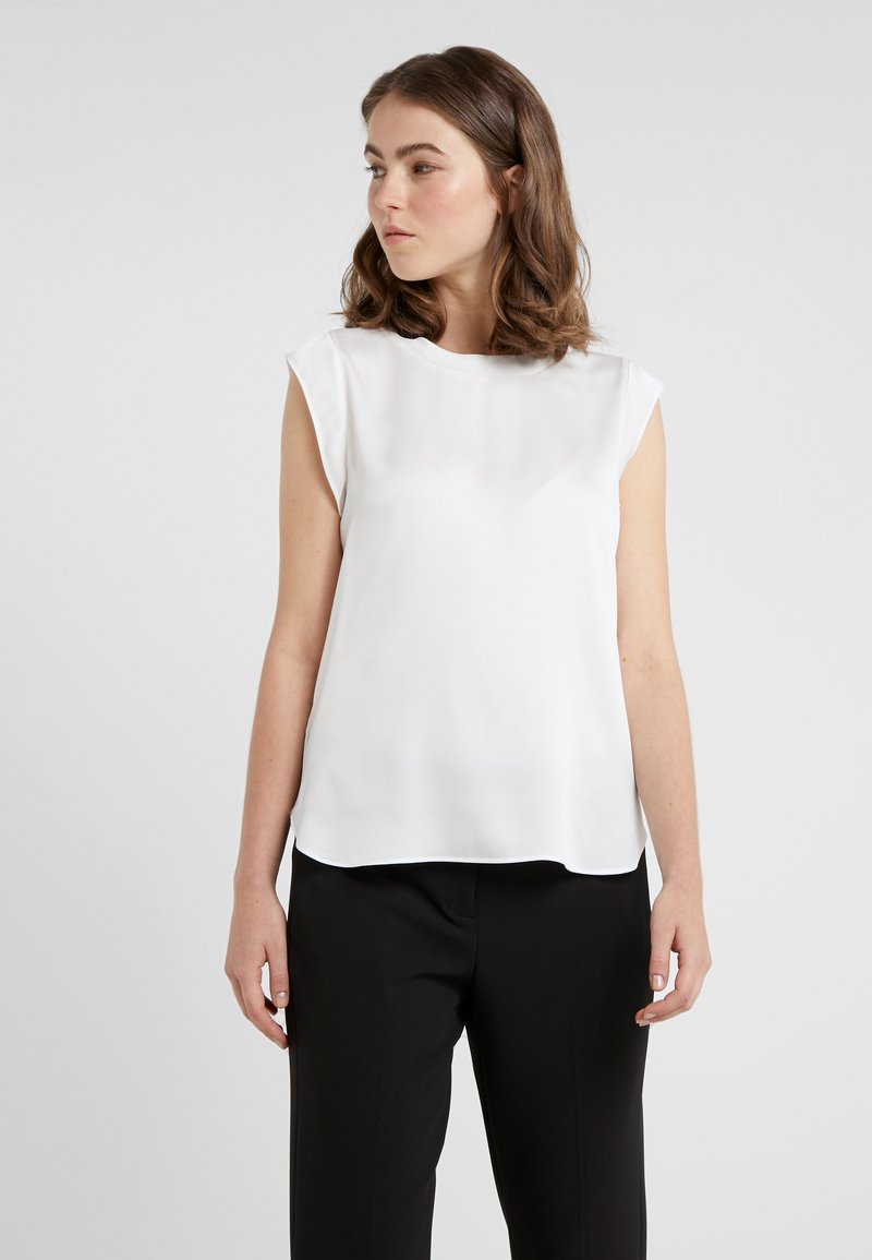 DKNY - FOUNDATION FLUTTER CAP SLEEVE - Blouse - ivory