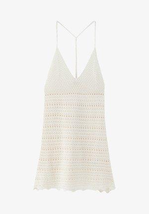 MIT TRÄGERN - Gebreide jurk - beige