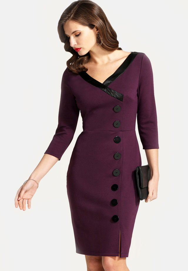 Shift dress - dark purple