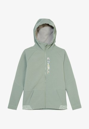 Soft shell jacket - gree/blue