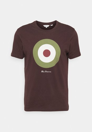 TARGET TEE - Print T-shirt - bordeaux