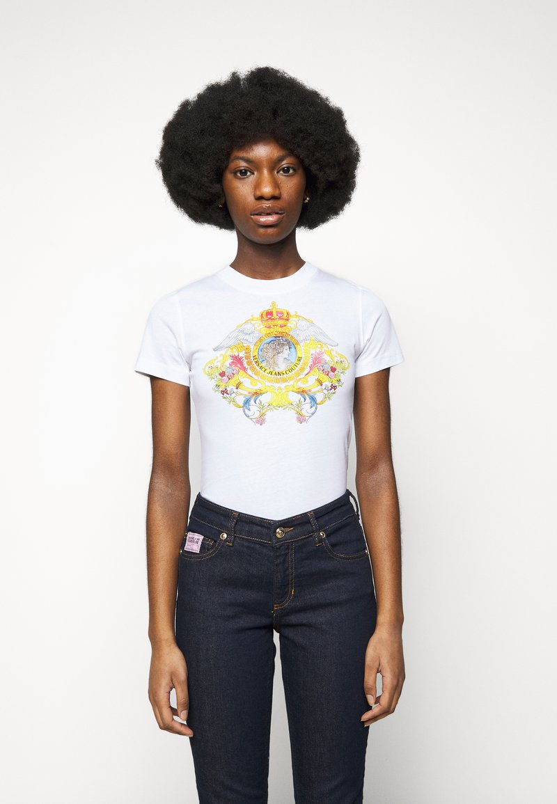 Versace Jeans Couture - TEE - Print T-shirt - optical white