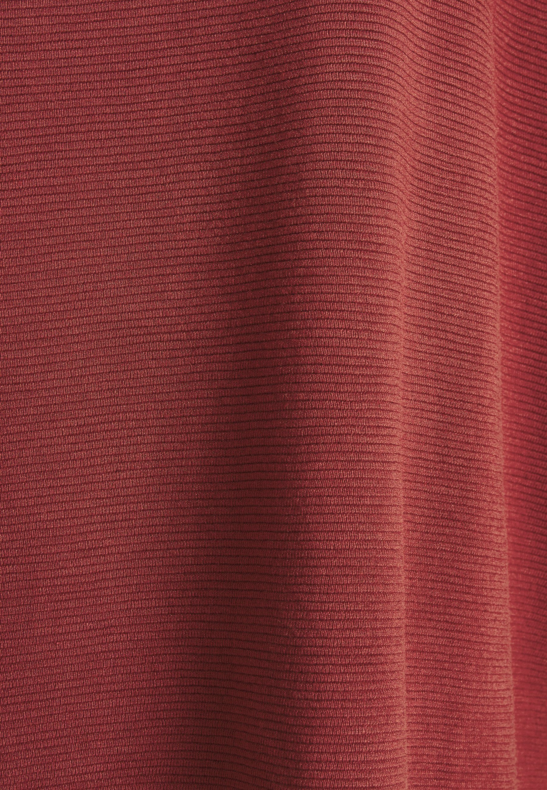 Tom Tailor Denim Structured Tee - Topper Langermet Rust Orange/lysebrun