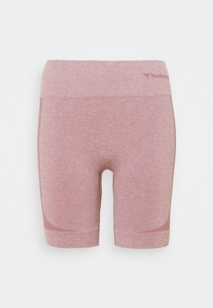 SEAMLESS SHORTS - Leggings - dusky orchid melange