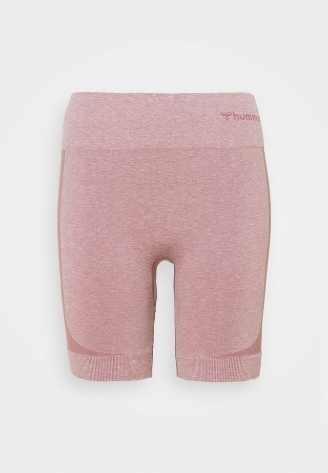 SEAMLESS SHORTS - Collant - dusky orchid melange