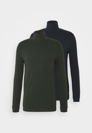 ROLL NECK 2 PACK - Long sleeved top - navy/green