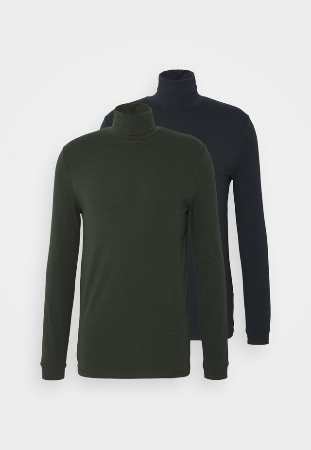ROLL NECK 2 PACK - Longsleeve - navy/green