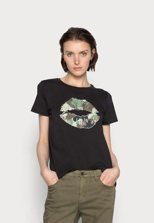 GITH - Print T-shirt - black
