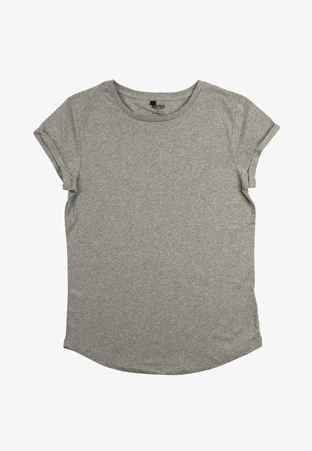 T-shirts print - mottled grey
