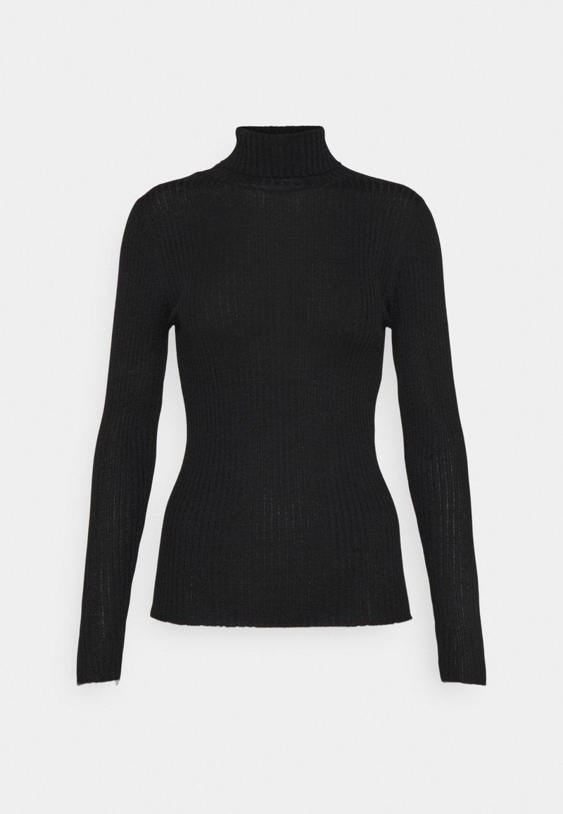 Selected Femme Petite - SLFCOSTINA ROLLNECK - Jumper - black