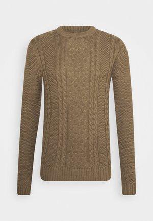 JJKIM CREW NECK - Sweter - sepia tint